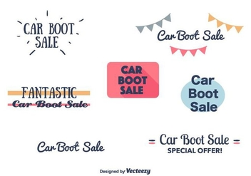 Car Boot Sale Banners - vector gratuit #403665