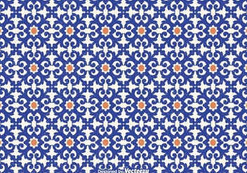 Free Azulejo Vector Seamless Pattern - Free vector #403685