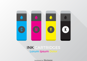 Free Vector Ink Cartridges - Kostenloses vector #403705