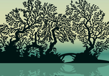 Free Vector Mangrove Silhouette - Kostenloses vector #403725
