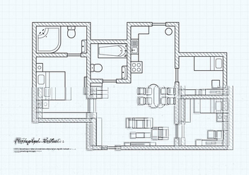 Free Floorplan Of A House Vector - Kostenloses vector #403755
