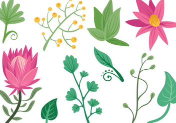 Free Simple Flowers Vectors - Kostenloses vector #403805