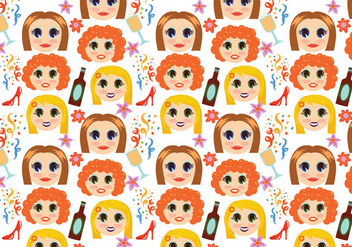 Free Girls Night Pattern Vectors - Kostenloses vector #403825
