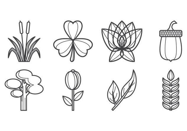 Free Plants Icon Vector - Free vector #403845
