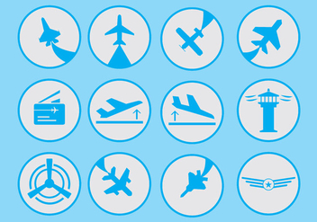 Aviation Icon - vector gratuit #403875