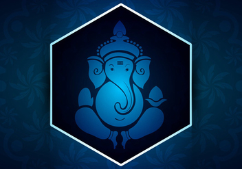 Ganpati background vector - vector #403905 gratis