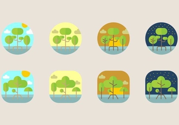 Mangrove Icon - Free vector #403975