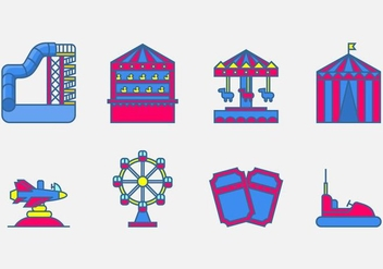 Amusement Park Vector Icon - Kostenloses vector #403985
