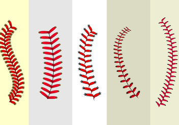 Baseball Laces Free Vector - бесплатный vector #404005