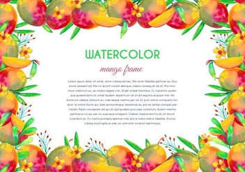 Free Vector Watercolor Mango Illustration - vector gratuit #404055