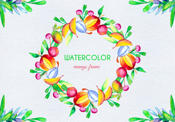 Vector Watercolor Fruit Illustration - Free vector #404065