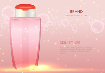 Face Toner Illustration - Free vector #404125