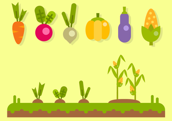 Free Vegetables Vector - vector #404145 gratis