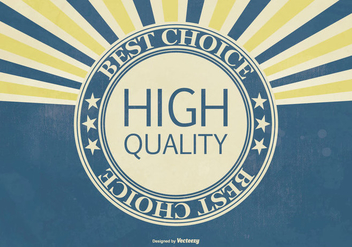 Retro Hi Quality Promotional Illustration - бесплатный vector #404185