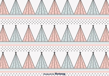 Christmas Trees Pattern Vector - Free vector #404335
