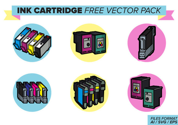 Ink Cartridge Free Vector Pack - Kostenloses vector #404365