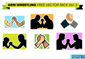 Arm Wrestling Free Vector Pack Vol. 3 - Free vector #404375