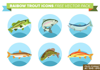 Rainbow Trout Icons Free Vector Pack - Free vector #404385