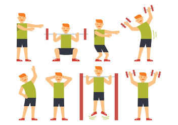 Sportsman training vectors - Free vector #404455
