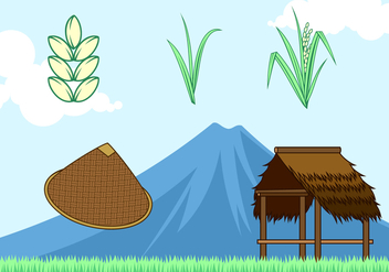 Rice Field Free Vector - бесплатный vector #404475