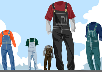 Overalls Free Vector - Free vector #404495