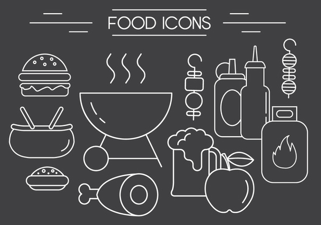 Free Barbeque Vector Icons - vector gratuit #404515