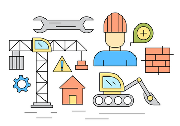 Free Construction Icons - vector #404555 gratis