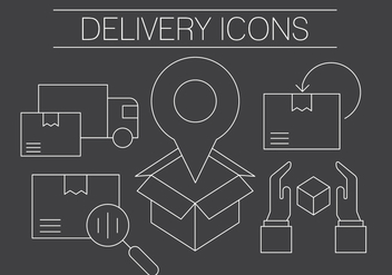 Free Delivery Icons - vector #404645 gratis