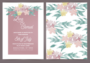 Vector Wedding Invitation - Free vector #404655