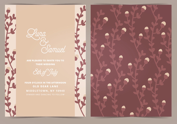 Vector Wedding Invitation - Free vector #404665