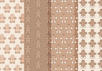 Vector Gingerbread Man Patterns - Free vector #404695