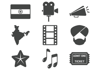 Bollywood Icons - Free vector #404725