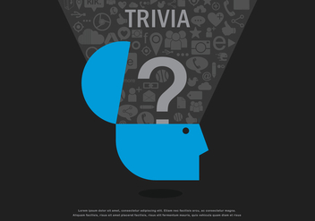 Trivia Social Media Illustration - vector gratuit #404755