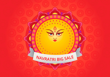 Navratri Big Sale Illustration - Free vector #404775