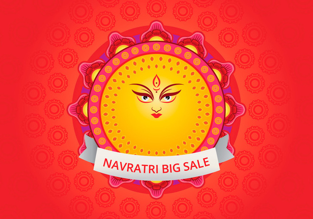 Navratri Big Sale Illustration - бесплатный vector #404775