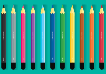 Colour Pencil Set - vector gratuit #404795