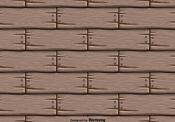 Vector Wooden Background - Seamless Pattern - Free vector #404875