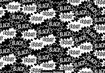 Black Friday Seamless Pattern - vector gratuit #404895