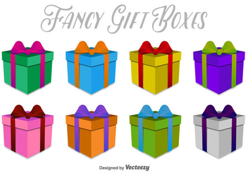 3D Gift Boxes Vector Icons - бесплатный vector #404905
