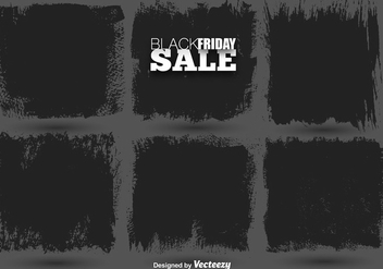 Vector Set Of Black Paint Banner - бесплатный vector #404925