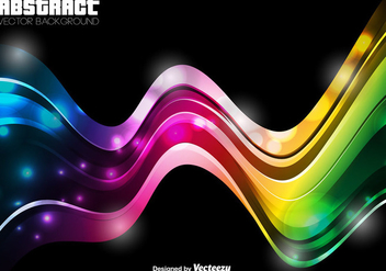 Abstract Template - Vector Colorful Wave - Free vector #404955