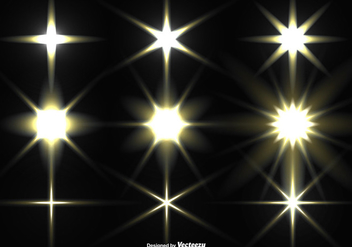 Vector Collection Of Glowing Stars - Free vector #404965