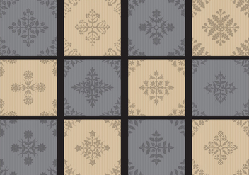 Monochromatic Toile Small Patterns - vector #404995 gratis