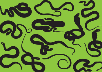Snake Silhouettes - vector gratuit #405005