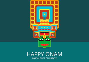 Onam Big Sale Illustration - vector gratuit #405055