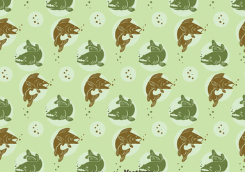 Walleye Seamless Pattern - бесплатный vector #405065