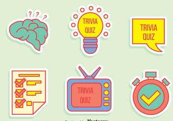 Trivia Quiz Element Vector - vector gratuit #405075