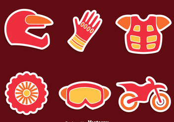 Moto Cross Element Vector Set - vector gratuit #405095