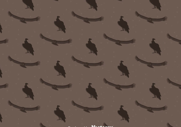 Condor Bird Seamless Pattern Background - vector #405145 gratis