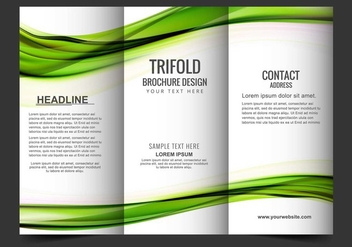 Free Vector Tri Fold Brochure - Free vector #405175